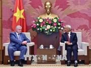越南国会副主席汪周刘会见公正俄罗斯党议员小组主席