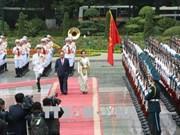 政府总理阮春福与缅甸国务资政兼外长昂山素季举行会谈