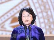 越南国家副主席邓氏玉盛前往澳大利亚出席第28届全球妇女峰会