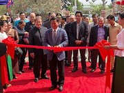 越南援建柬埔寨磅士卑省广播电台工程正式落成