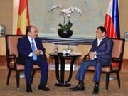 越南政府总理阮春福与菲律宾总统杜特尔特举行双边会晤