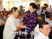 国会主席阮氏金银接待芹苴市选民  其他党和国家领导赴各地接待选民