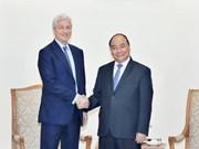 越南政府总理阮春福会见美国摩根大通集团董事长