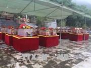 清化省为23具在老挝牺牲的越南烈士遗骸举行追悼会和安葬仪式