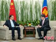 中国和东盟一致同意加强在经济领域的合作