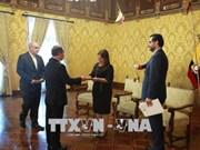 厄瓜多尔与越南加强多领域合作