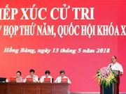 越南政府总理阮春福在海防市开展国会代表接待选民活动