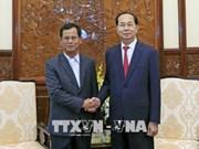 越南国家主席陈大光会见老挝公安部副部长