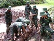 越南广宁省安全转移处理一枚225公斤内藏93公斤炸药的炸弹