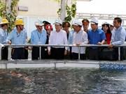 郑廷勇对河静省水产捕捞销售活动进行检查