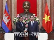 国家主席陈大光会见柬埔寨外交与国家合作部大臣布拉索昆