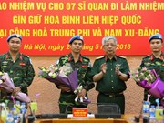 7名越南军官将前往中非和南苏丹执行维和任务