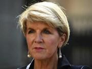 澳大利亚反对中国在东海上进行的军事化行动