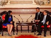 胡志明市领导会见古巴共产主义青年联盟第一书记