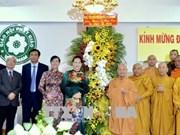 越南国会主席阮氏金银佛诞大典走访慰问胡志明市若干佛教团体