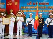 越南海军129号海团荣获一级捍卫祖国勋章