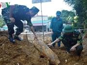 安沛省挖出一枚150公斤的炸弹 已被成功销毁