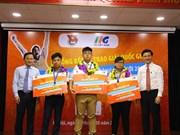 2018年微软办公软件世界大赛越南区预选赛颁奖仪式在河内举行