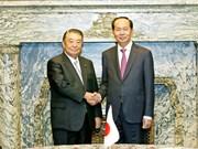 越南国家主席陈大光会见日本众议院议长大岛理森