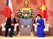 越南国会主席阮氏金银会见捷克众议院副议长沃伊捷赫•菲利普