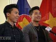 """越南""""杂技王子""""江国基和江国业获得文化体育与旅游部的奖状"""