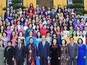 国家主席陈大光会见第十四届国会女代表