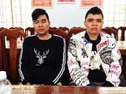 越南向中国警方移交两名外逃犯罪嫌疑人