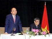 阮春福会见越南驻加拿大使馆工作人员与旅加越南侨胞