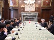 越南政府常务副总理张和平对日本进行工作访问