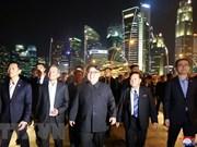 朝鲜领导人希望学习新加坡经济社会发展的经验
