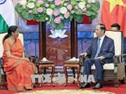越南国家主席陈大光会见印度国防部长尼玛拉·西塔拉曼
