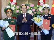 国家主席陈大光决定对越南人民军两名高级军官晋升军衔