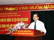 """越共电子报""""党的资料与文件系统""""新界面正式亮相"""