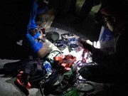 岘港边防部队帮助迷失深山的菲律宾游客
