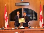 促进越南与加拿大议会合作