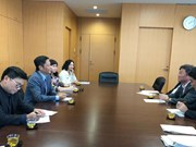 RCEP部长级会议间隙越南工贸部长陈俊英与日本领导举行双边会晤