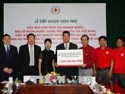中国红十字会向越南北部山区洪水灾民提供资金援助
