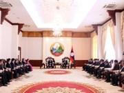 老挝领导人高度评价越南内务部干部管理经验