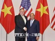 越南政府总理阮春福会见美国国务卿迈克•蓬佩奥
