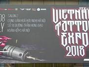 越南最具规模文身艺术展吸引世界100多名文身师参加
