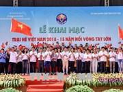 """""""15年肩并着肩手拉着手""""的2018年越南夏令营继续在富寿省举行"""