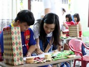旅外越侨青年代表团参观世界文化遗产会安古镇