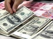 20日越盾兑美元汇率上涨 人民币、英镑汇率下降
