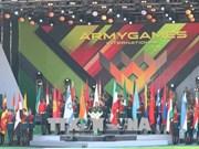 越南人民军代表团出席2018年国际军事比赛开幕式