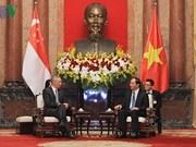 越南与新加坡建交45周年 越南领导人向新方致贺信