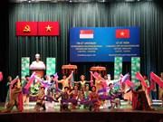 越南与新加坡纪念两国建交45周年