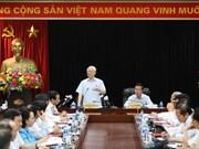 阮富仲总书记与越共中央宣教部举行工作会议