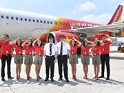 今年上半年越捷航空公司营业额猛增