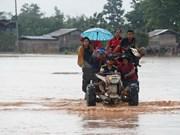 老挝水电站溃坝事故:越南国防部向老挝提供5万美元的援助资金