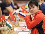 越南女子国际象棋队在2018年亚洲国际象棋团体锦标赛上夺得银牌